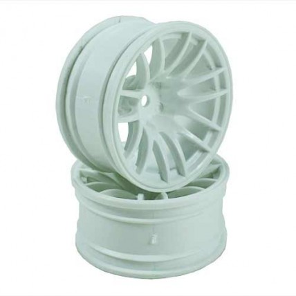 8326w9 - White 7 Y-Spoke Wheels 1 pair(1/10 Car, 9mm Offset)