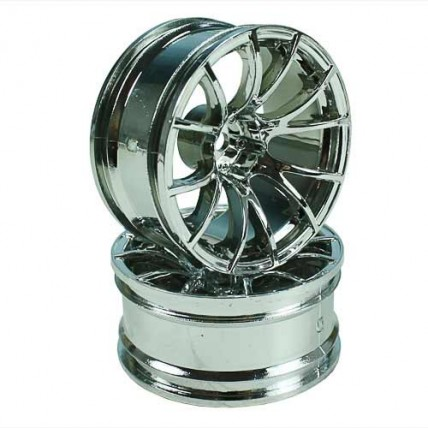 8325S9 - Silver 6 Y-Spoke Wheels 1 pair 1/10 Car, 9mm Offset