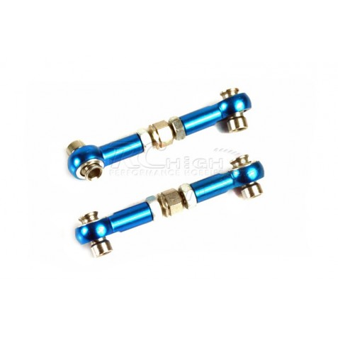 -02157b- Aluminium Steering Linkage 2P Blue for 1/10th
