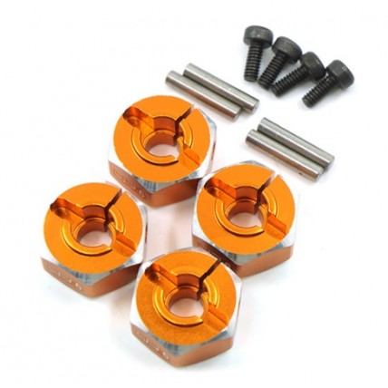 yeahracing - WA-033OR Aluminum Hex Adaptor Set 12x6mm For 1/10 RC Touring