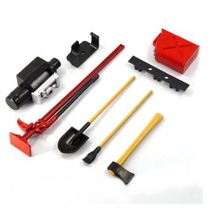 yeahracing - YA-0356RD 1/10 RC Rock Crawler Accessory Tool Set Axes Diggin