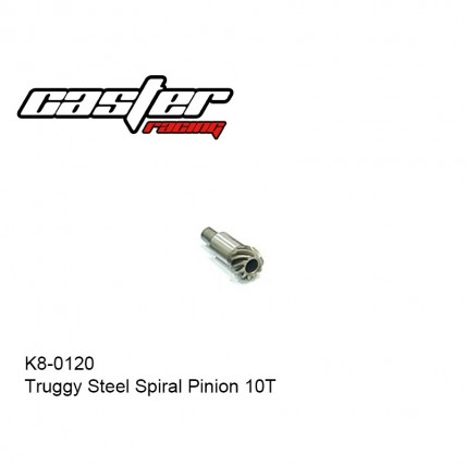 K8-0120 - Truggy Steel Spiral Pinion 10T