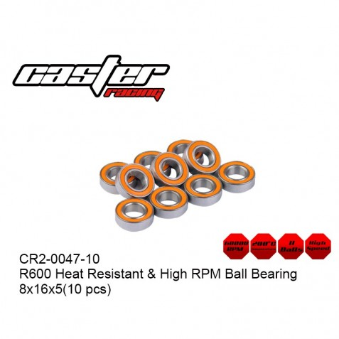 CR2-0047-10 - R600 Heat Resistant & High RPM Ball Bearing