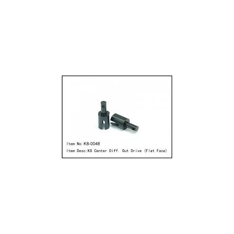 K8-0048 - K8 Center Diff. Out Drive (Flat Face) - Caster