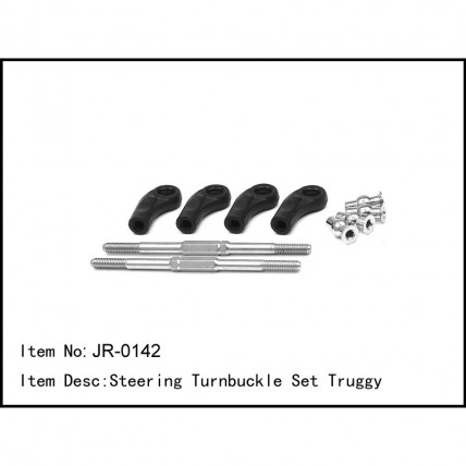 JR-0142- Steering Turnbuckle Set Truggy