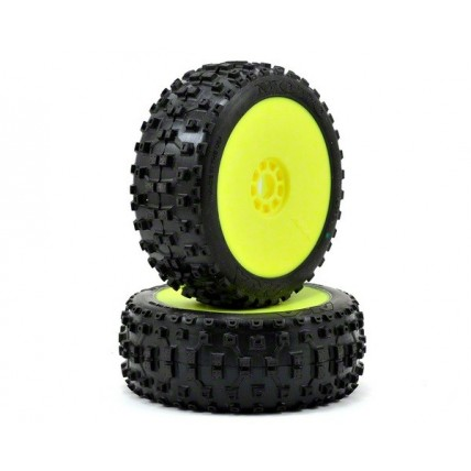 رینگ و لاستیک باگی / 1:8 BUGGY MOTO SOFT EVO WHEEL PRE-MOUNTED