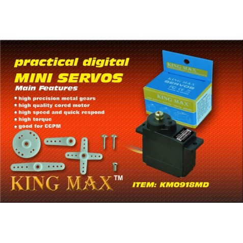 سروو دیجیتال مینی / KM0918MD---13g digital metal gears mini servo