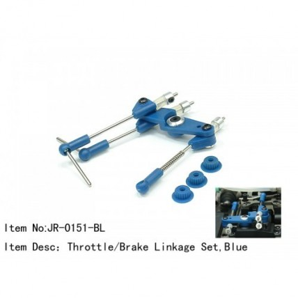 throttle/brake linkage JR-015-BL - ست کامل سرسروو گازترمز