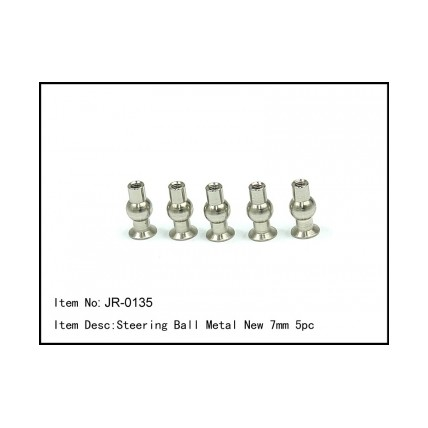 JR-0135 Steering Ball Metal NEW 7mm 5pcs